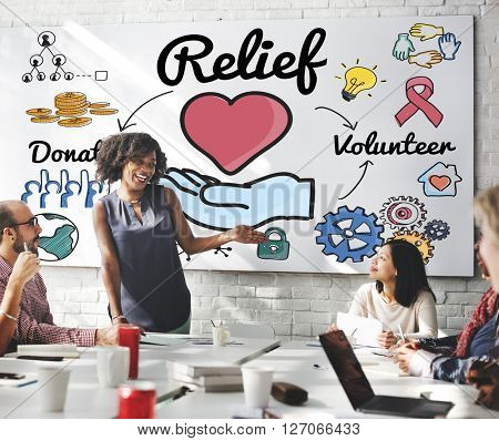 Relief Relaxation Charity Assistance Support Giving Concept