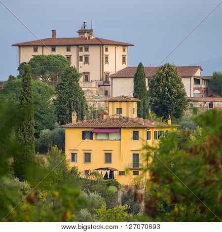 Traditional italian houses in Florence, Italy