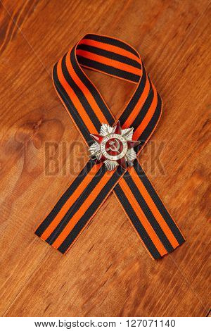St. George's Ribbon And Order Of The Patriotic War In St. Symbols Of Victory