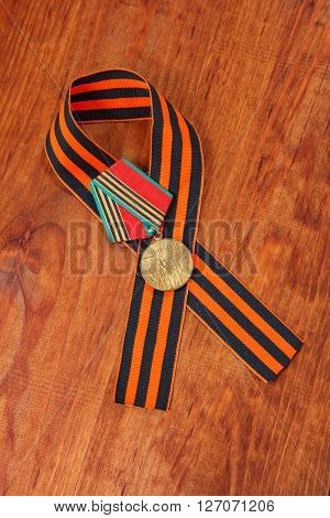 Jubilee Medal 40 Of Victory In The Great Patriotic War Of 1941-1945 And George's Ribbon