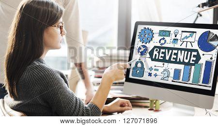 Revenue Finance Money Accounting Profit Concept