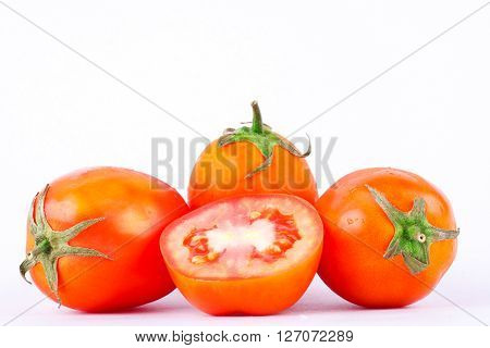 Red tomato is a vegetable, that is healthy and has a high nutritional value.