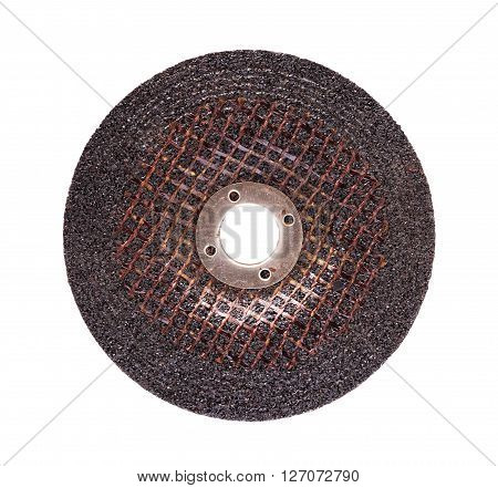 Grinding wheel for steel isolated on white background.