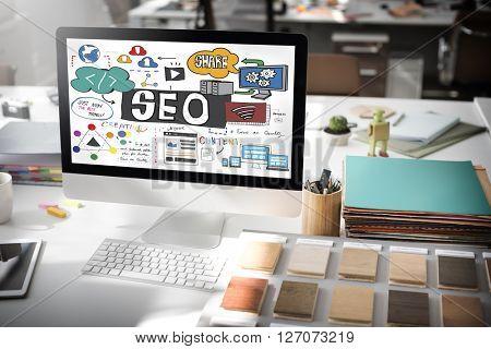 SEO Search Engine Optimization Internet Digital Concept