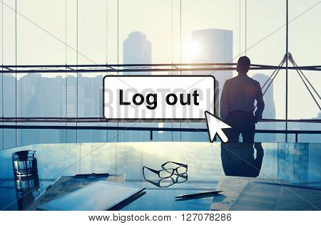 Log Out Online Technology Modern Interface Concept