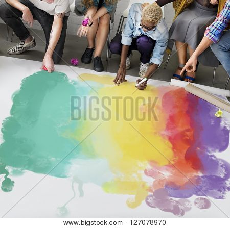 Painting Coloring Artwork Crayon Creativity Concept