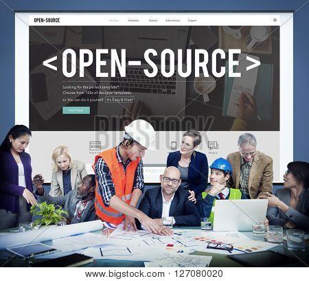 Open Source Developer Program Software User Concept