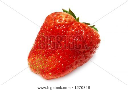 Appetizing Strawberry (Isolated On White)