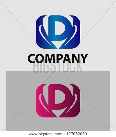 Letter d logo. Letter d logo icon design template elements