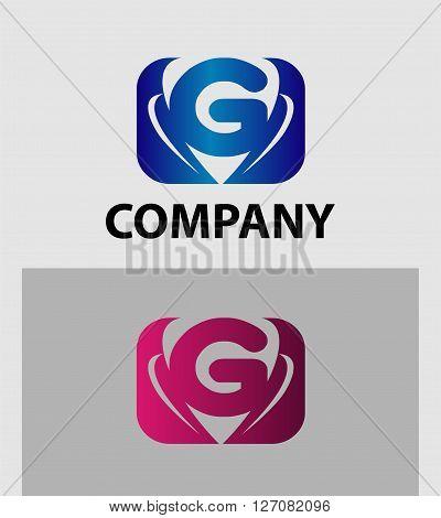 Letter G logo design. Letter G logo icon design template elements