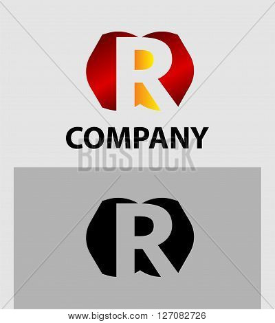 Letter R. Letter R logo icon design template elements