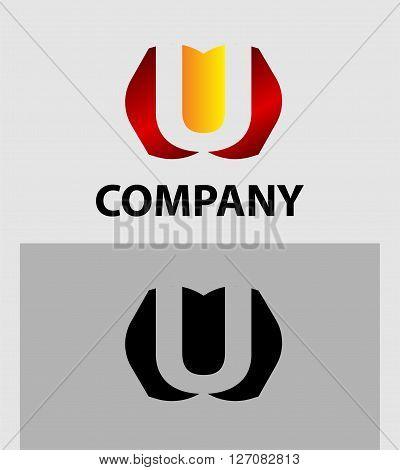 Letter U. Letter U logo icon design template elements
