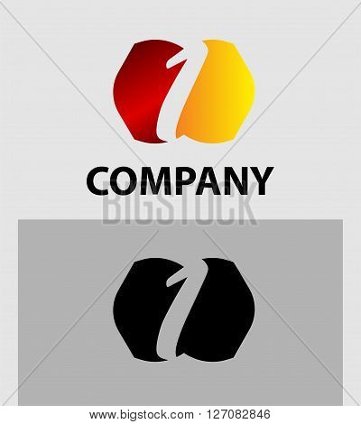 Vector sign number 1 logo. Vector logotype design