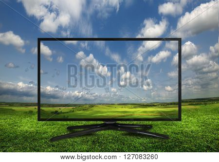 4k monitor isolated on white