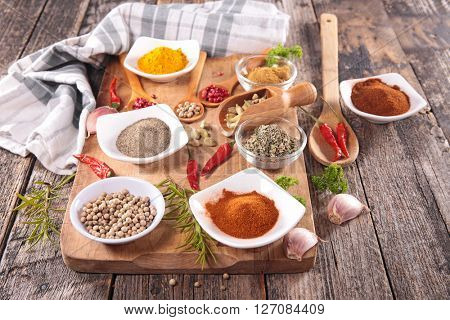 assorted herb and spices