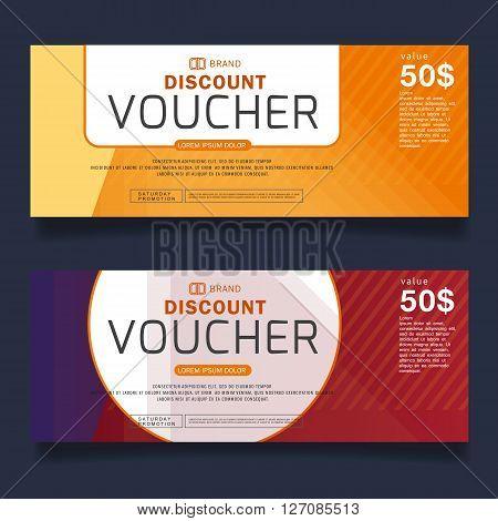 Gift Voucher Premier Color Vector illustration.banner, background.