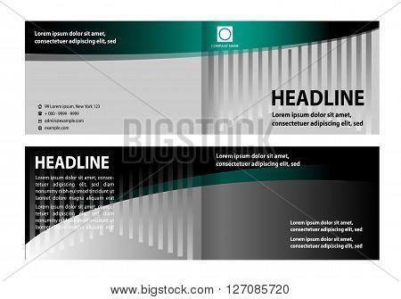Creative brochure design. Bi-Fold Brochure Design. Corporate Leaflet, Cover Design Template