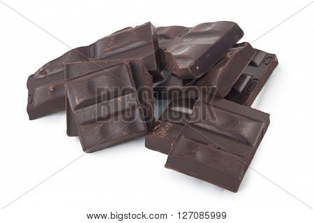 Cracked chocolate bar