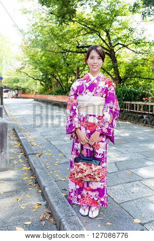Japanese woman with tradition dressing