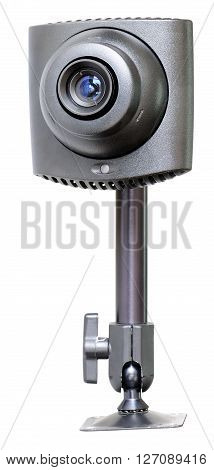 Supervision video camera isolated on white background