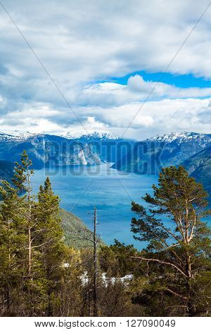 Beautiful Nature Norway. The Sognefjorden.