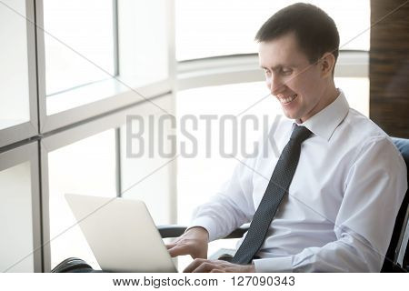 Businessman Enjoying His Work