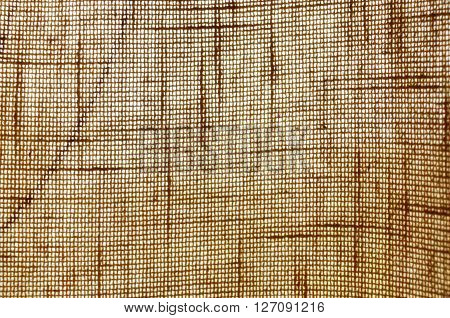 Lightened bound of threads of the brown cloth