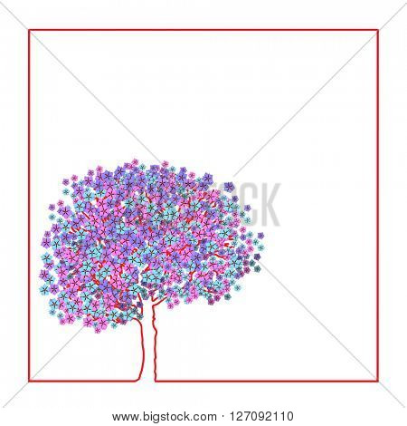 Tree covered with flowers. Waking Life.
