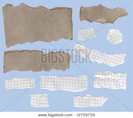 Fragmentary Strips Of A Paper And Cardboard