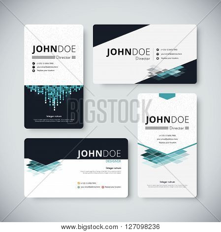 Corporate Business Card Template. Business Card Design. Vector Stock.