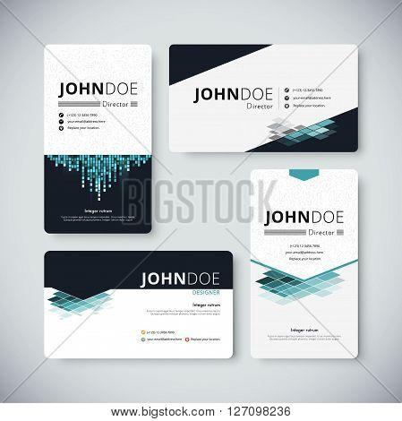 Corporate Business Card Template. Business Card Design. Vector Stock.