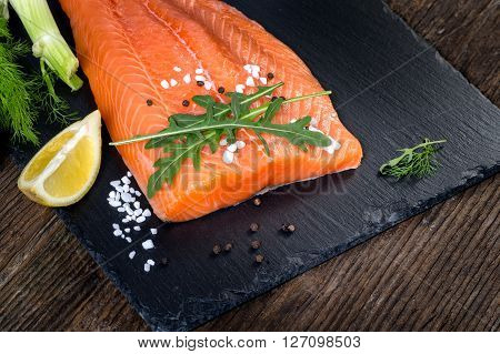 Salmon Filet Ready To Cook.