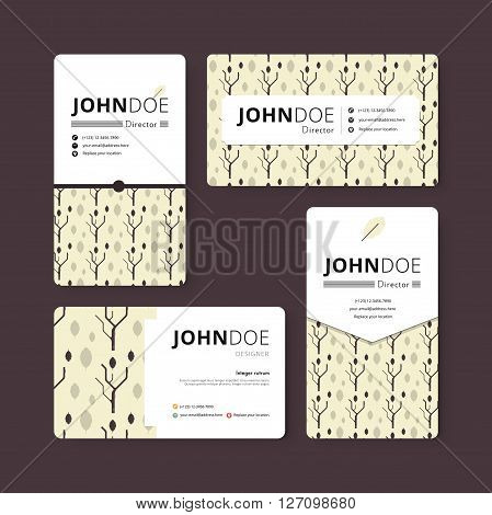 Simple Business Card Template. Cover, Flyer, Leaflet Template. Corporate Template. Spring Season Con