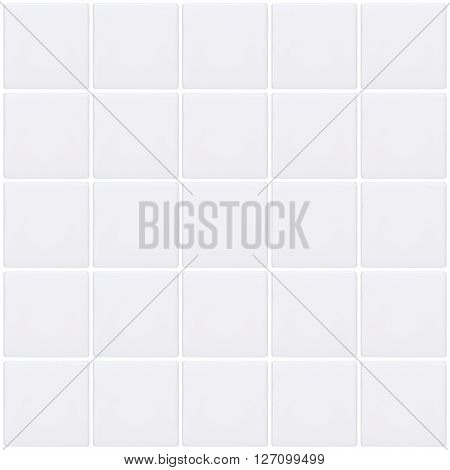 White mosaic tiles background seamless wall tile