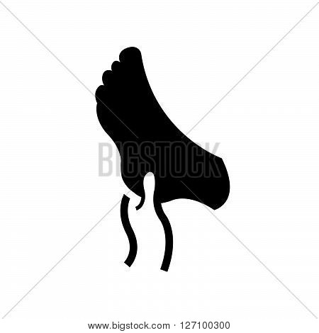 Bold Icon massaging gout feet icon vector design eps 10.
