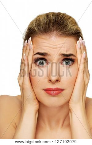 Young surprised woman
