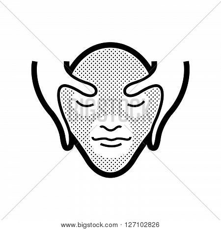 Facial massage icon support vector design  eps 10.