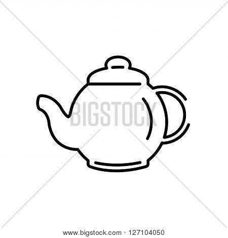 Line Icon Style, Pot Herbs And Tea Icon