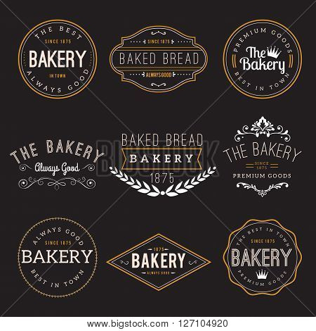 Bakery Badge Design Elements for apparel. Easy to manipulate, re-size or colorize.