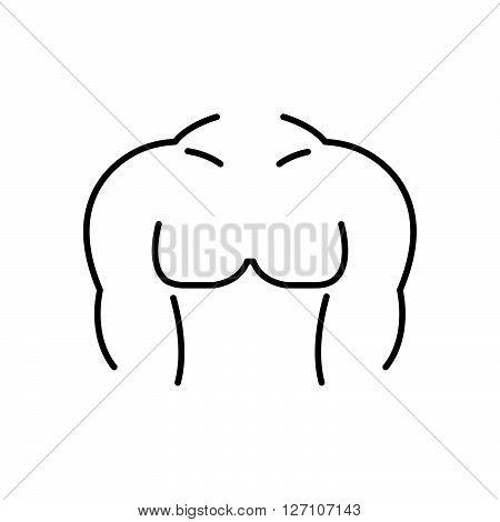 Line Icon Style, Male Body Icon Design