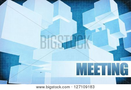 Meeting on Futuristic Abstract for Presentation Slide