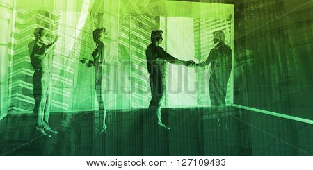 International Trade and Government Business Consulting as Art 3D Illustration Render
