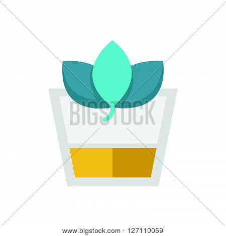 Flat Icon Herbal Drink icon support vector design  eps 10.
