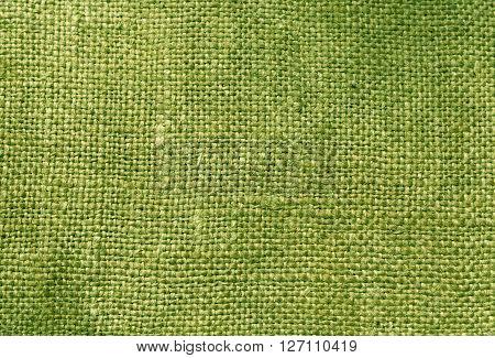 Green Textile Sack Texture