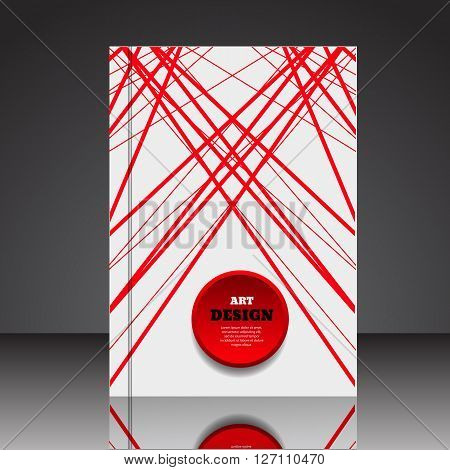 Abstract Composition Brochure Background A4 Eps10 Vector Illustration 1