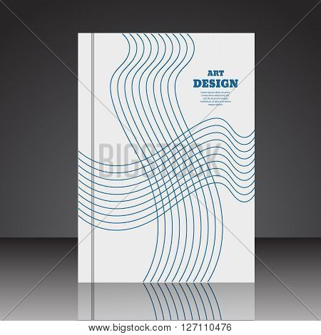 Abstract Composition Brochure Background A4 Eps10 Vector Illustration 2