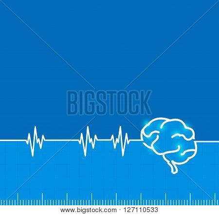 Brain electromagnetic impulse activity with copy space