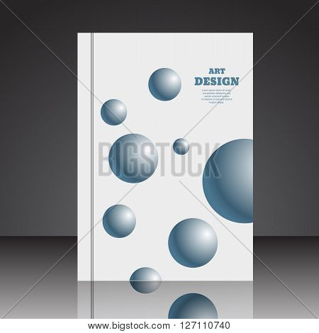 Abstract Composition Brochure Background A4 Eps10 Vector Illustration 4