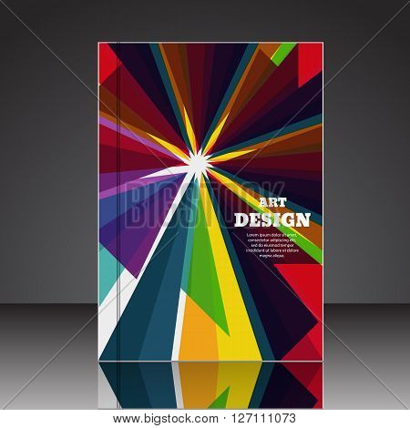 Abstract Composition Brochure Background A4 Eps10 Vector Illustration 8