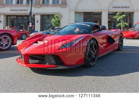 Ferrari Laferrari On Display